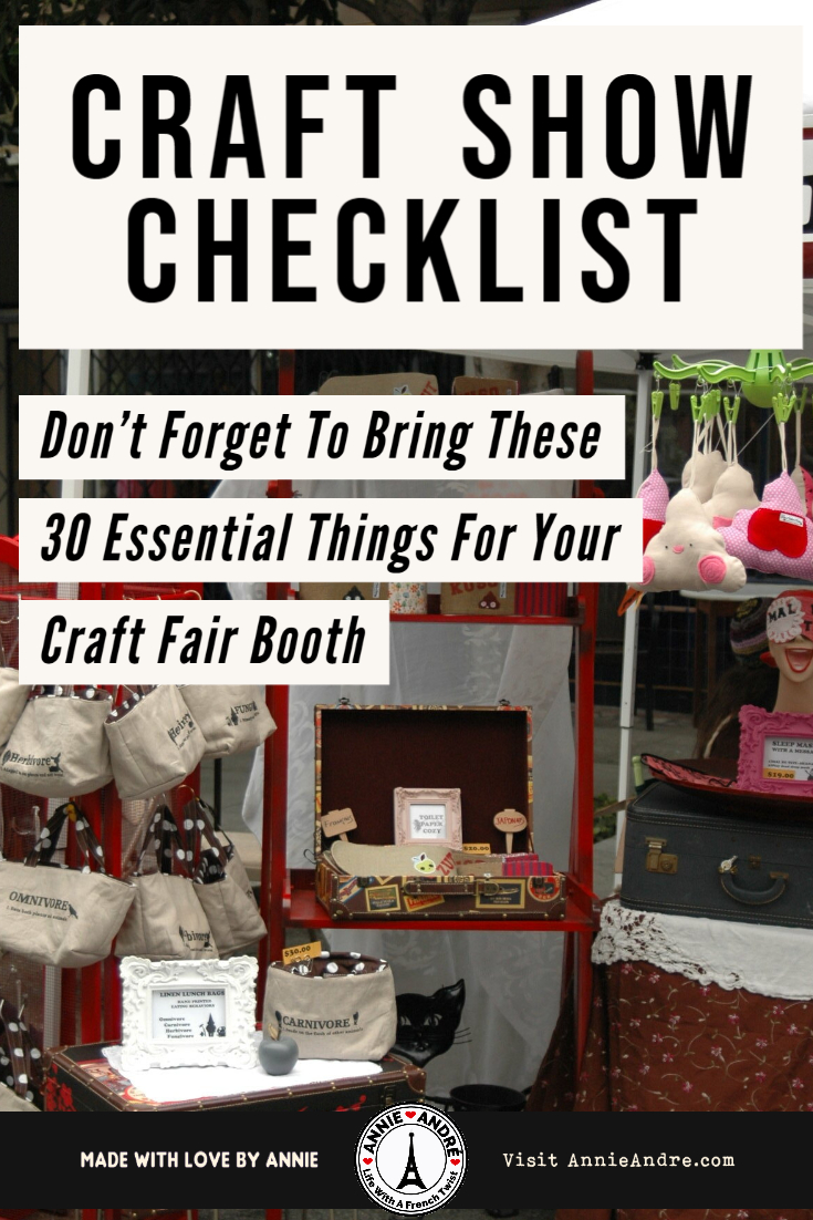 Pin this for later: Craft show checklist: 30 things you don't want to forget to bring for your craft fair booth