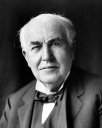 -Thomas Alva Edison-(Most famous American Inventor who, singly or jointly, held a world record 1.093 patents.1847-1931)