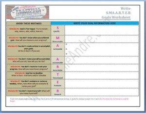 S.M.A.A.R.T.E.R. Goals Worksheet