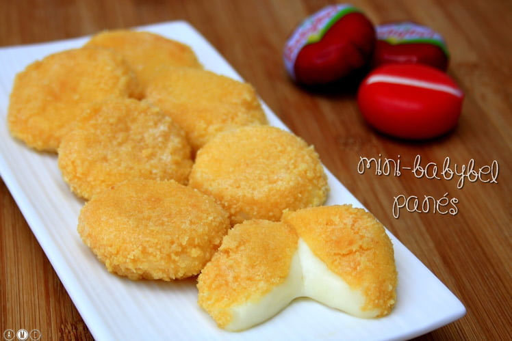 baby-bel-panné crusted babybel cheese