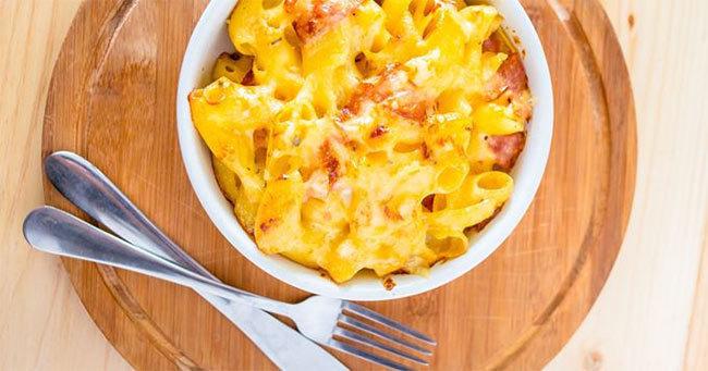 mac-et-mimolette: Cassolette de macaronis au bacon et à la mimolette