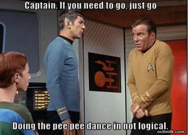 captain kirk pee pee dance