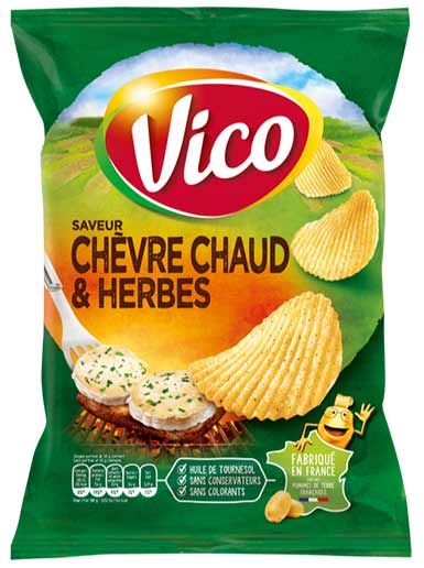 chèvre chaud & herbes chips
