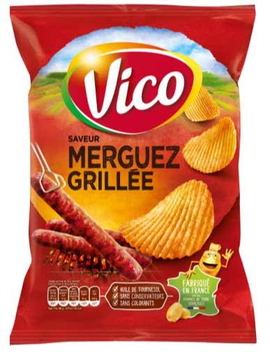 Chips merguez grillée