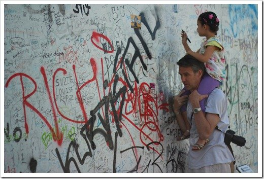 signing the Berlin Wall