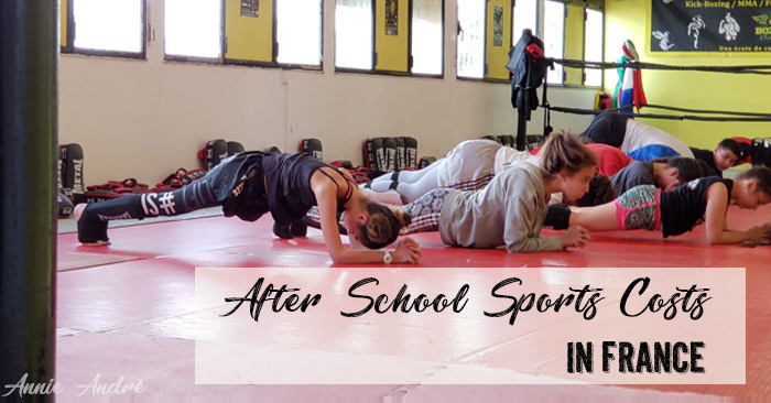 After school sports costs in France