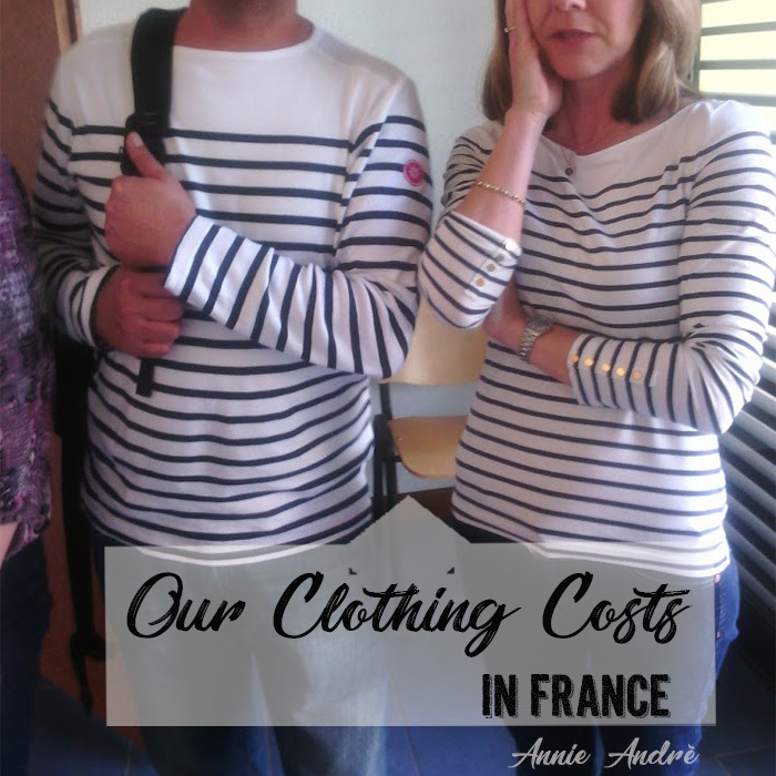 Our clothing cost in France