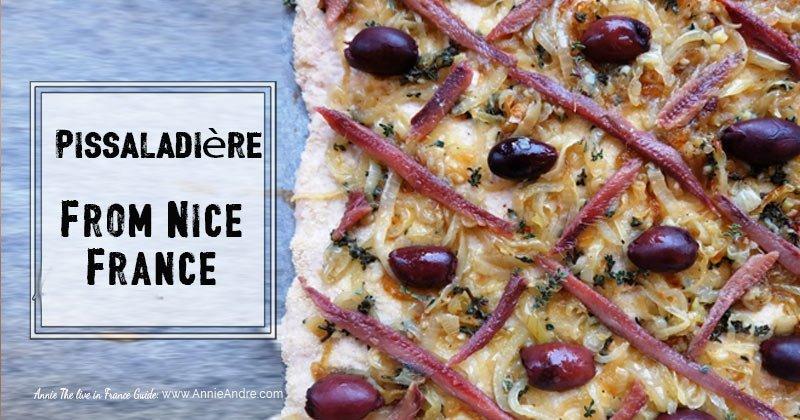 Pissaladière tarte from Nice France