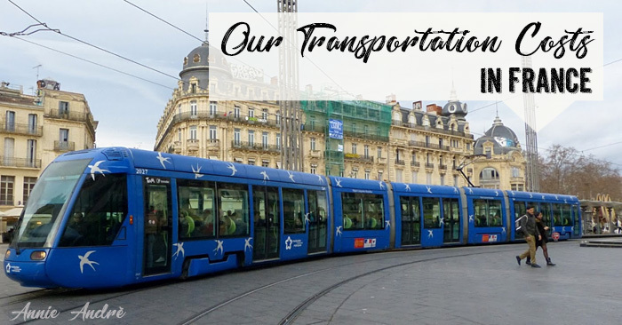 Our Transportation costs while living in France