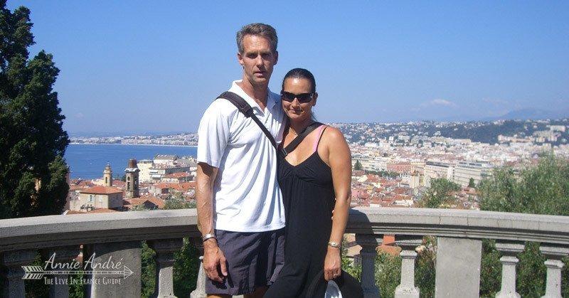 Birds eye view of the city of Nice overlooking la promenade