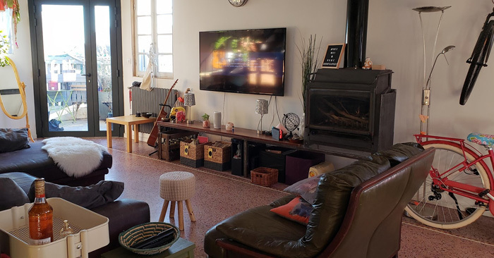 This is our home in Montpellier which we rented fully furnished.