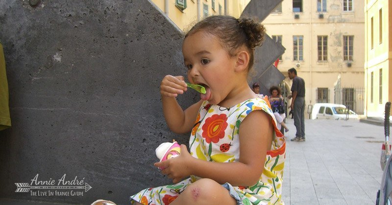 Eat a Gelato to cool down during the hot weather in Nice France
