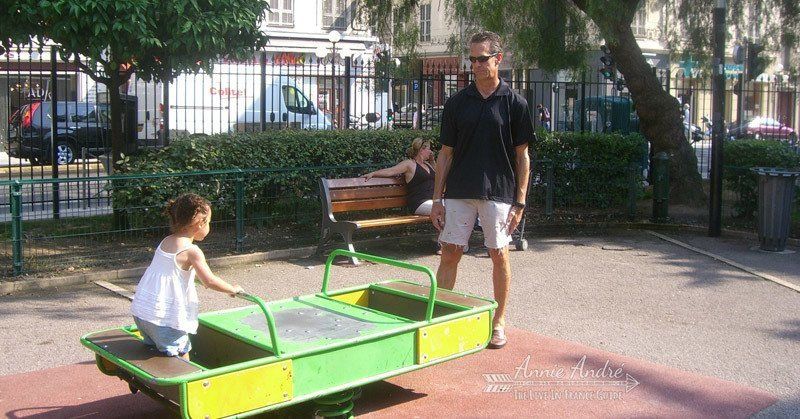 take your kids to play in the park playground