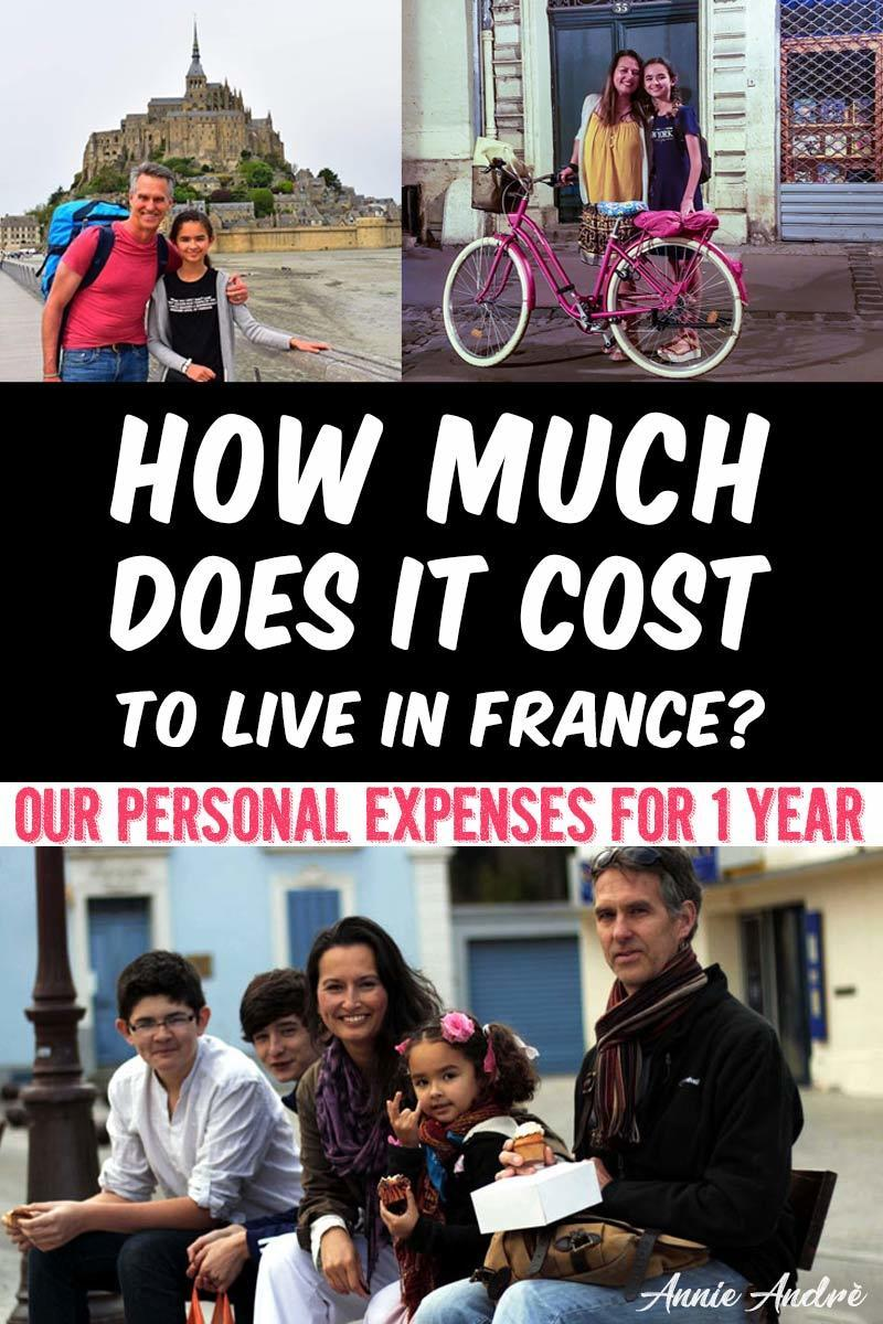 how much does it cost to live in France for one year?