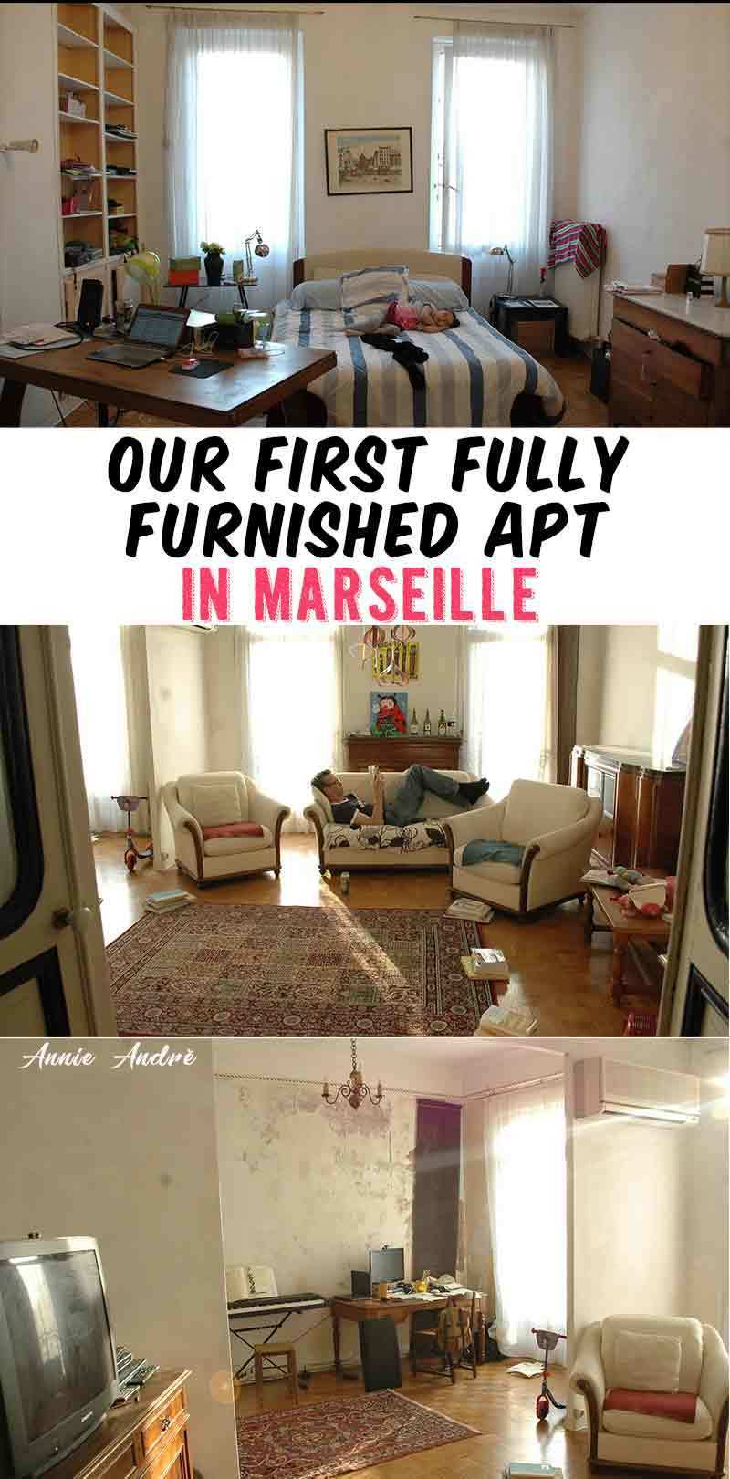 Our first fully furnished apartment in Marseille France was a little worn down