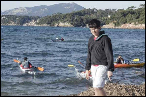 A day at the beach in the south of france: Le Pradet sea kayaking