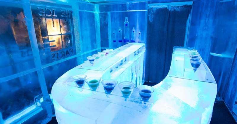 Le kube ice bar in Paris