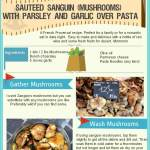 Wild Mushrooms with Pasta, Garlic, Olive Oil And Parsley Recipe