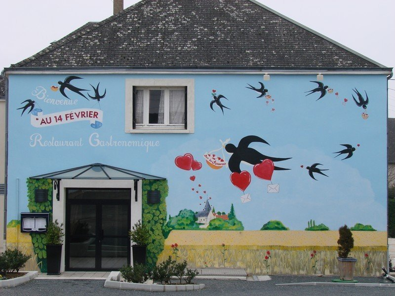 "Michelin star restaurant ""Au 14 FEVRIER"" in Saint-Valentin"