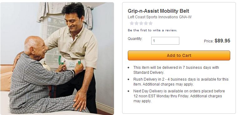 Grip-N-Assist Mobility Belt: stupid skymall products you can buy