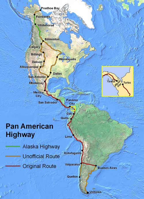 This is the Pan American Hwy from tip to tip