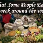 Discover What People Eat Around The World In One Week?: Photos Will Shock You