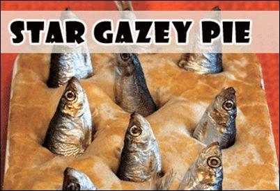 Weird Traditional British Food: stargazey-pie