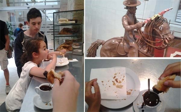 Stop by the museum of chocolate in barcelona
