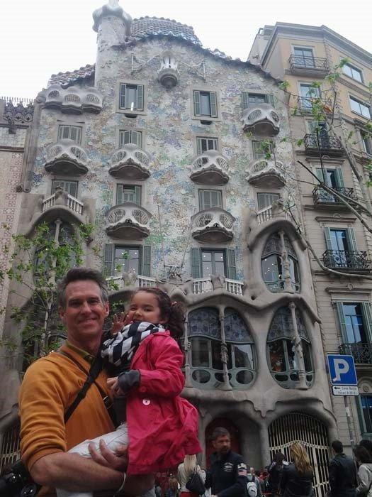 Gaudi building n Barcelona