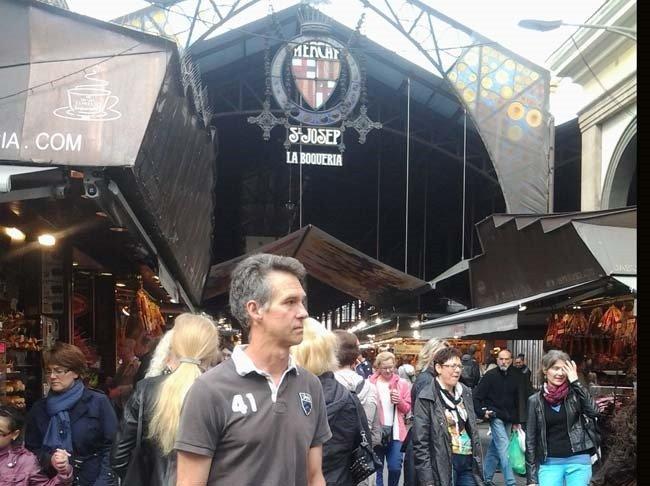 la-boqueria in Barcelona a huge outdoor market