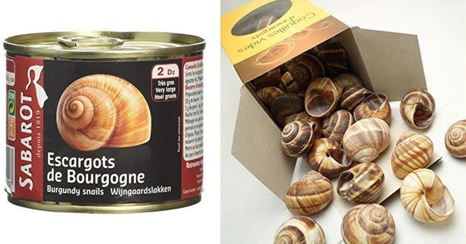 you can buy canned snails and frozen snails at French grocery stores and online