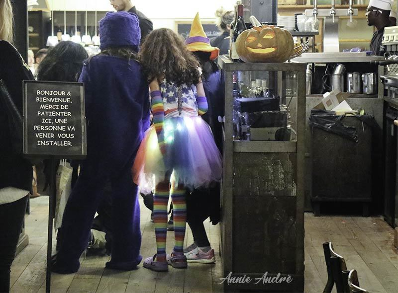 Kids go trick or treating shop to shop in Montpellier and most cities across France