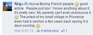 My French friend posted this comment about Halloween on facebook