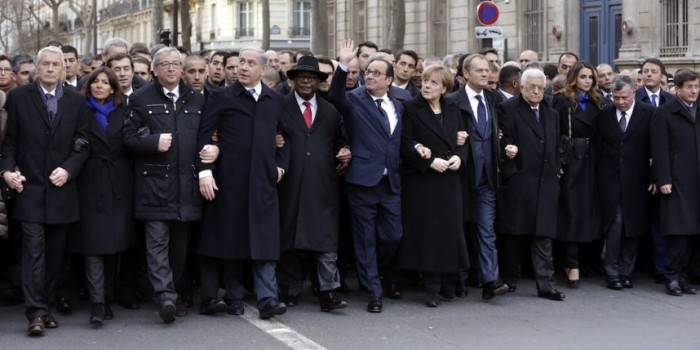 50 world leaders show up in support of Frances fight for freedom on Sunday after the terrorist attack.