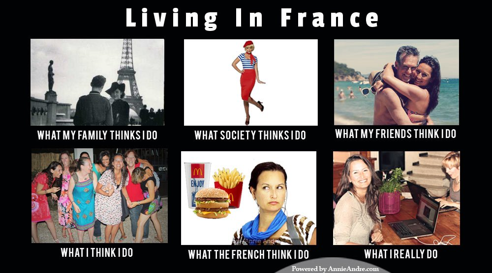 Living In France Travel Meme What People Think I Do Vs
