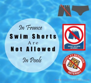 no swimming trunks or board shoarts allowed in public pools