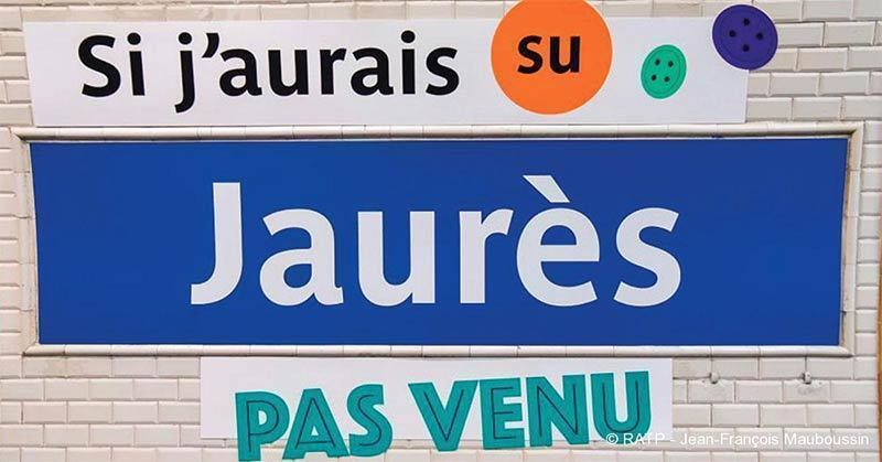 Train station Jaurès name changed as part of an April fools day prank