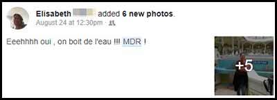 screenshot example of my friend using MDR on Facebook