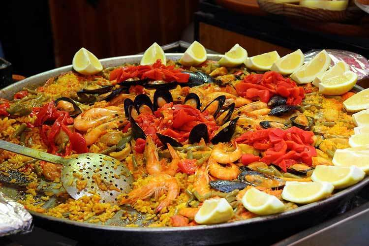 Paella an iconic Spanish rice dish also popular in parts of France