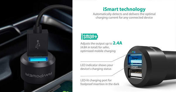 Look for a car charger with atlleast 2 amps per usb outlet.