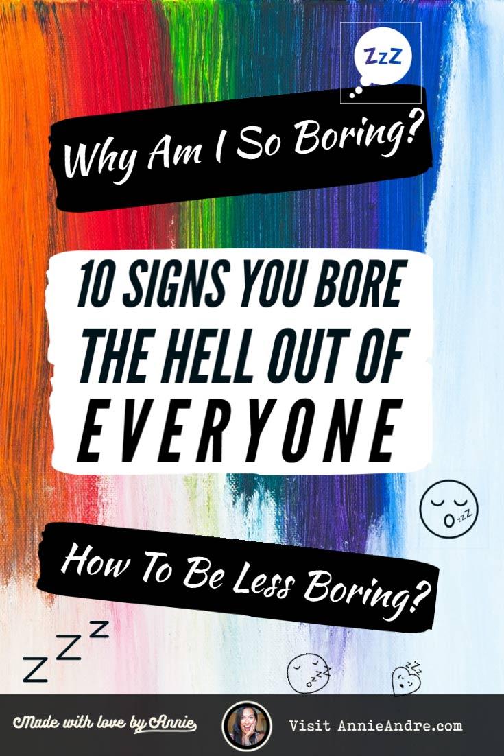 Pin why am i so boring