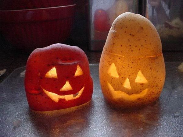 carve-potato Jack O'Lantern