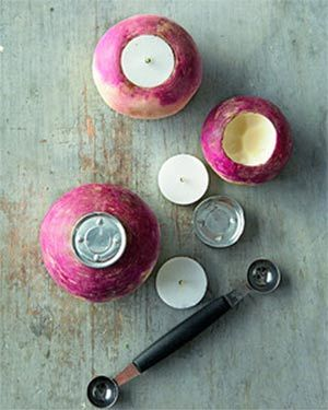 turnip votive from martha stewart
