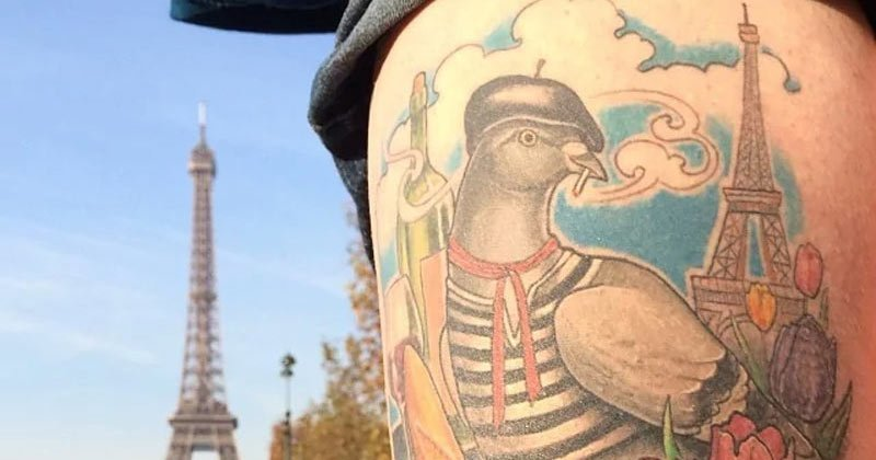 Featfrench-pigeon-tattoo