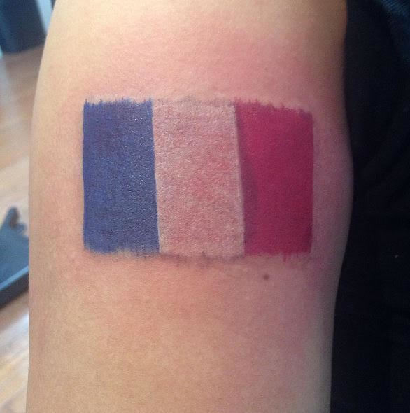 French Flag Tattoo