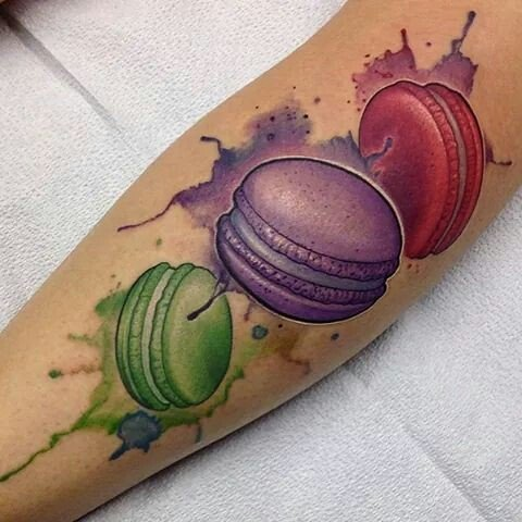 French macaron tattoo