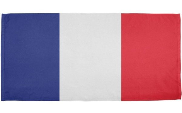 French beach flag towel