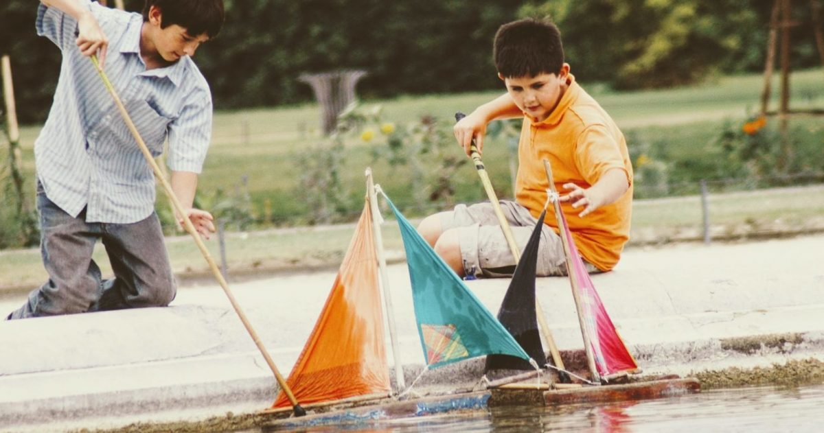 In the Jardin des Tuileries, the only sailing Kieran and Andre could do.