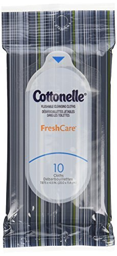 Cottonelle Fresh Care Flushable Wipes, Travel Pack, 12 Travel Packs of 10 Cloths Each (120Ct) image attachment (large)