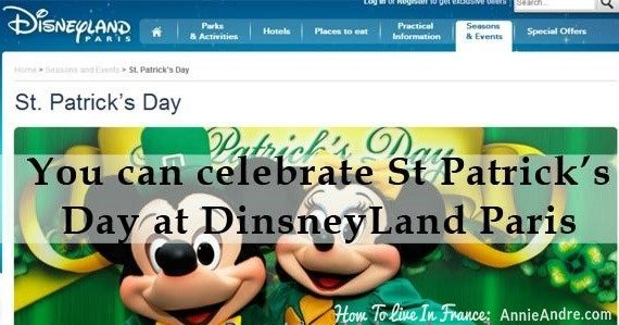 St Patricks day at Disneyland Paris